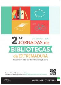 Cartel II Jornadas Bibliotecas