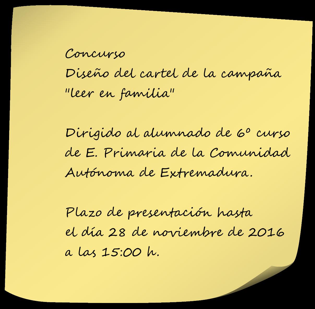 """Concurso Cartel """"leer en familia"""""""